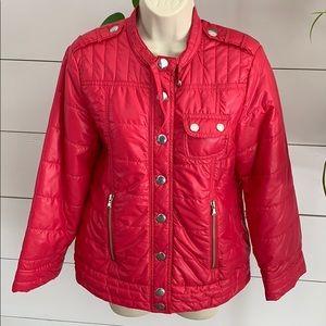 Marc Jacobs Jacket Puffer Coat Dark Pink w/ Snaps